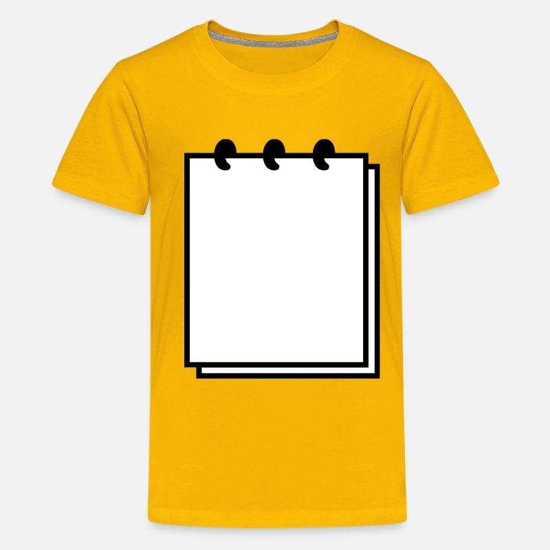 Writable T-Shirts - Notebook (use writable flex) - Kids' Premium T-Shirt sun yellow
