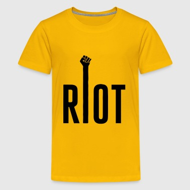 Anti Corruption Riot Typography with Raised Fist - Kids' Premium T-Shirt