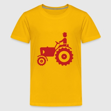 Farmer With Tractor - Kids' Premium T-Shirt