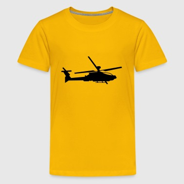 Military helicopter (silhouette) - Kids' Premium T-Shirt