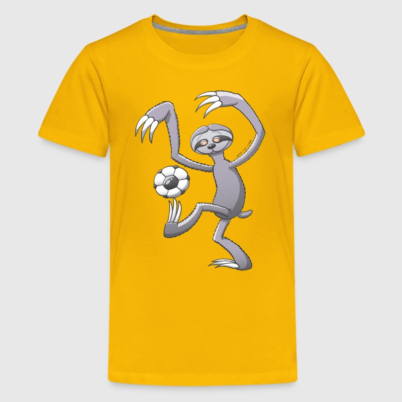 Sloth Playing Soccer - Kids' Premium T-Shirt