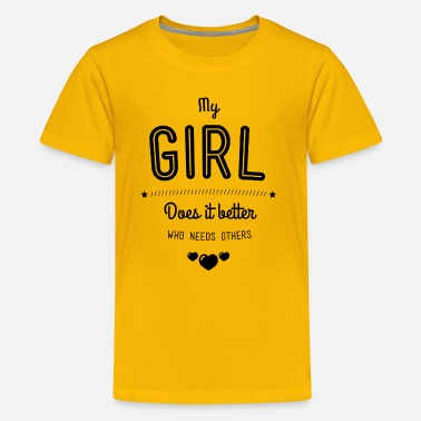 Fuck Baby Girl My girl does it better - Kids' Premium T-Shirt