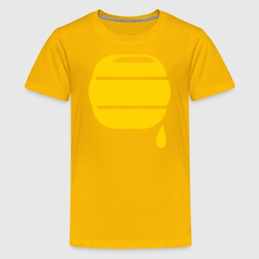 honey bee hive hives dripping sweet icon - Kids' Premium T-Shirt