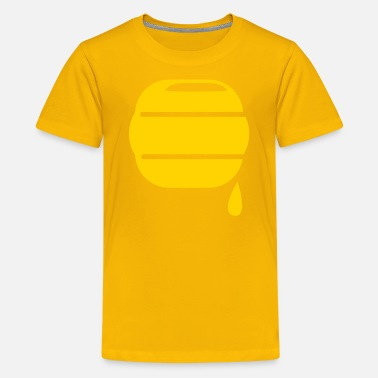 Pooh honey bee hive hives dripping sweet icon - Kids' Premium T-Shirt
