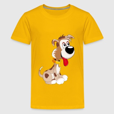 sweet smiling dog - Kids' Premium T-Shirt