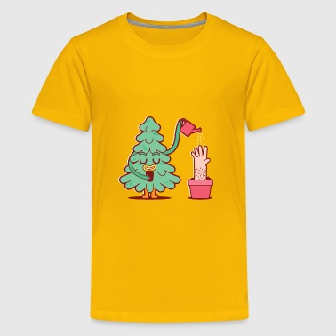 Tree watering its human - Kids' Premium T-Shirt