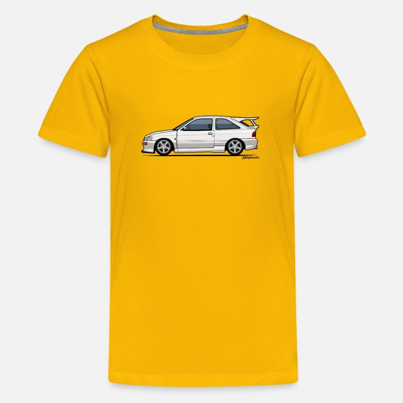 Ford T-Shirts - Ford Escort Mark V RS Cosworth - Kids' Premium T-Shirt sun yellow