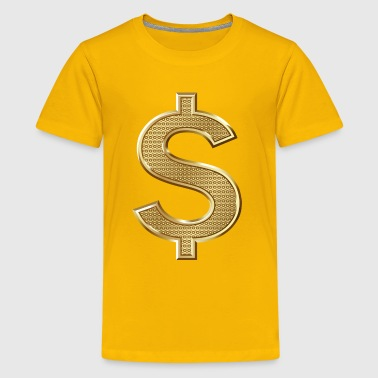 Golden Dollar Sign - Kids' Premium T-Shirt