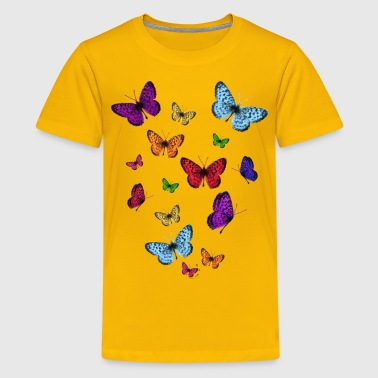 Rainbow Butterflies - Kids' Premium T-Shirt