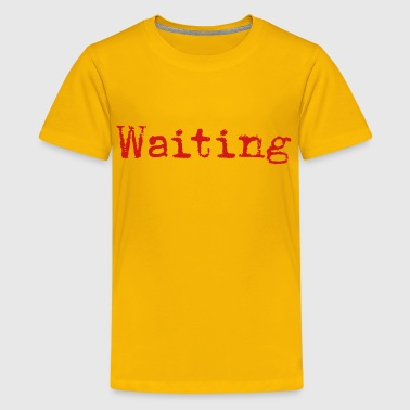 Sonnet Waiting... Poetry Book English - Kids' Premium T-Shirt