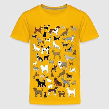 many dogs pixel - Kids' Premium T-Shirt