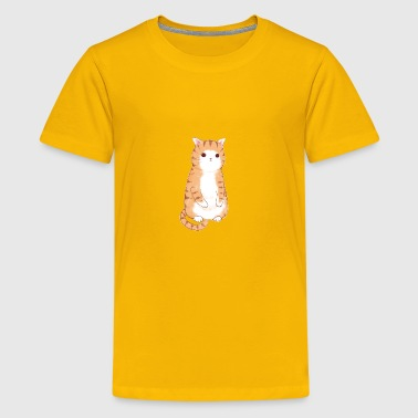 standing cat cute present for kids and cat lover - Kids' Premium T-Shirt