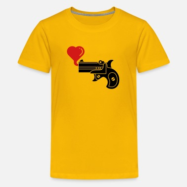Blow Bubbles Pistol Blowing Heart Bubbles - Kids' Premium T-Shirt