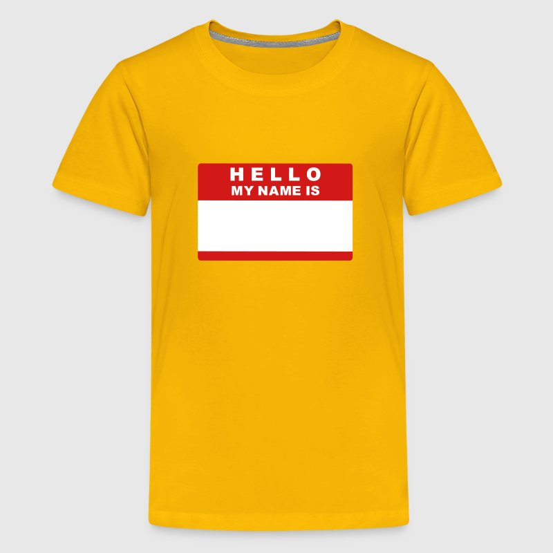 Hello my name is - Kids' Premium T-Shirt