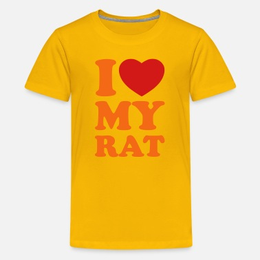 I Love My Rats I love my rat - Kids' Premium T-Shirt