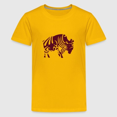 Wild Buffalo tribal buffalo wild animal designs - Kids' Premium T-Shirt
