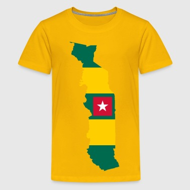 Togo Flag Map - Kids' Premium T-Shirt