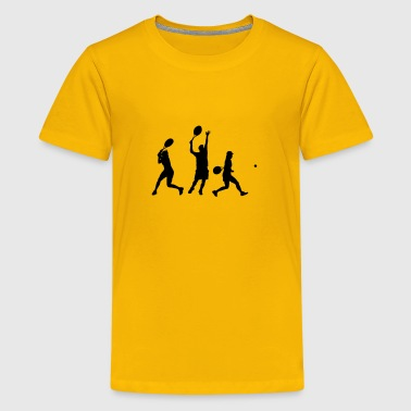 tennis players silhouette - Kids' Premium T-Shirt