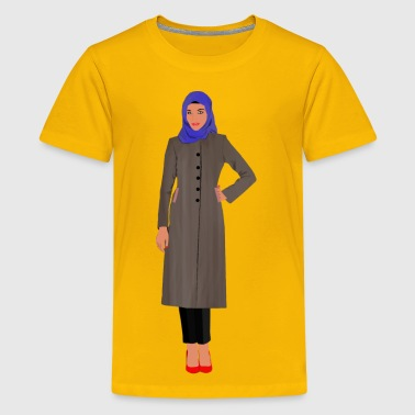 Muslim Apparel Muslim Woman Variation 2 - Kids' Premium T-Shirt