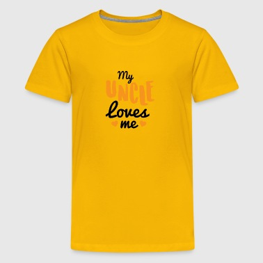 Baby My Uncle loves me - Kids' Premium T-Shirt