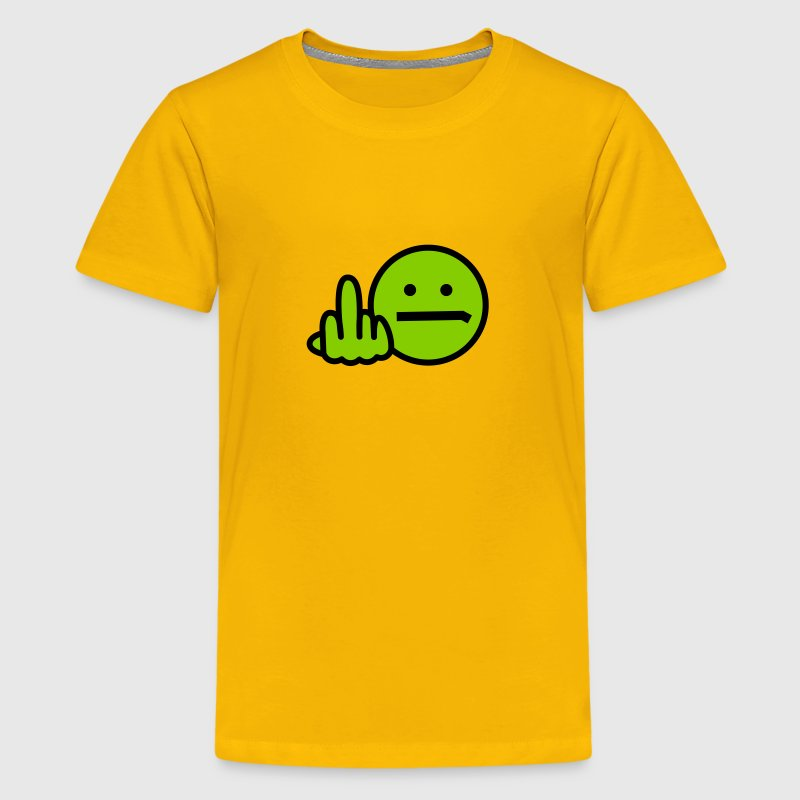 Angry Smiley technical remix - Kids' Premium T-Shirt