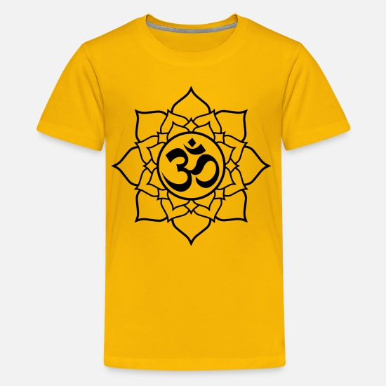 Meditation T-Shirts - Om and Lotus - Kids' Premium T-Shirt sun yellow