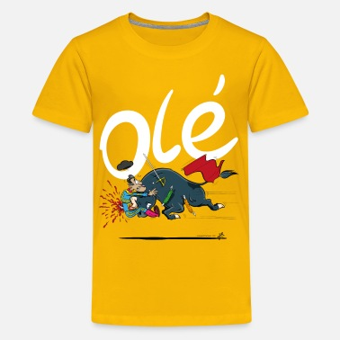 Bad Karma Olé, Bad luck Bull fighter (grey T-shirts) - Kids' Premium T-Shirt