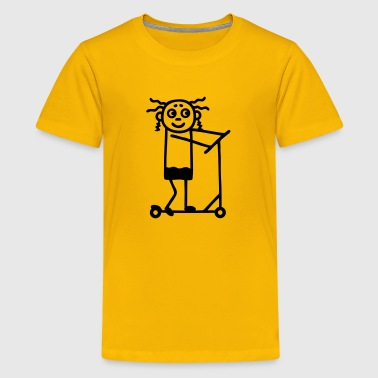 Kick Scooter Kick Scooter / board - Girl - Kids' Premium T-Shirt