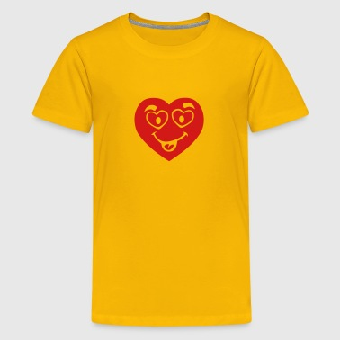 heart love smile eye  - Kids' Premium T-Shirt