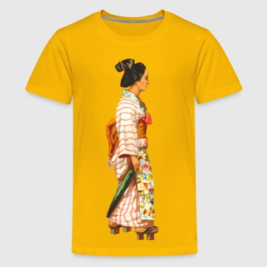 Japanese lady - Kids' Premium T-Shirt