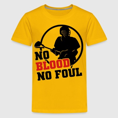 No Blood No Foul (lacrosse) - Kids' Premium T-Shirt