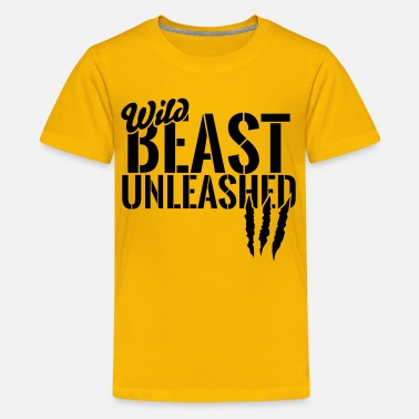Unleash The Beast Gym wild beast unleashed - Kids' Premium T-Shirt