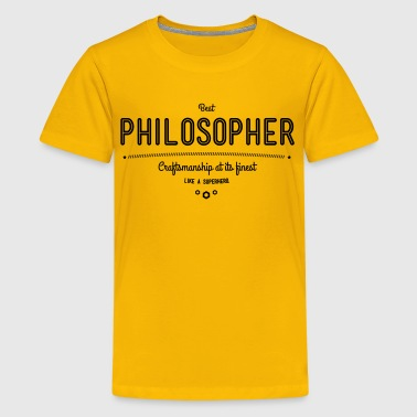 best philosopher - craftsmanship at its finest - Kids' Premium T-Shirt