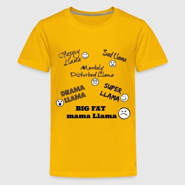 Llama Song Design  - Kids' Premium T-Shirt