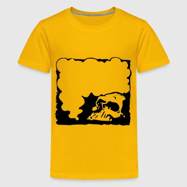 Detestable Skull frame - Kids' Premium T-Shirt