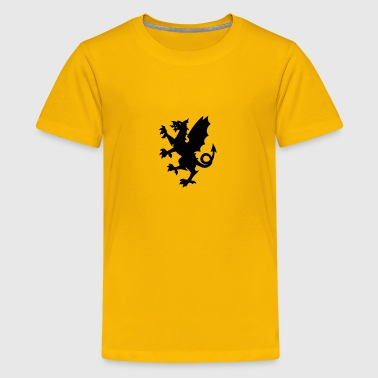 Somerset dragon silhouette - Kids' Premium T-Shirt