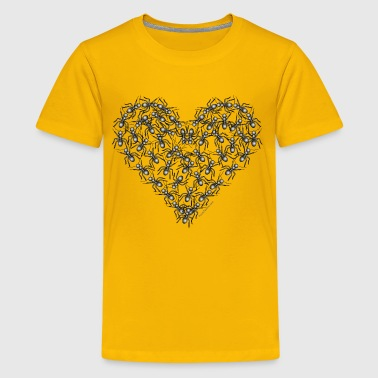 Black Ants Heart - Kids' Premium T-Shirt