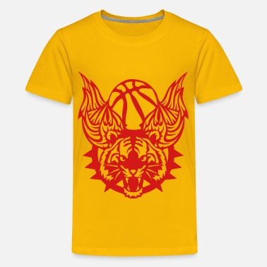 Basketball Logo With Wings tiger wing basketball sports club logo 1 - Kids' Premium T-Shirt