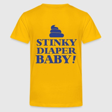 stinky diaper baby! with a turd poo stink - Kids' Premium T-Shirt