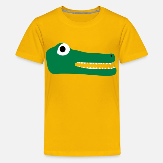 Teeth T-Shirts - Crocodile - Kids' Premium T-Shirt sun yellow
