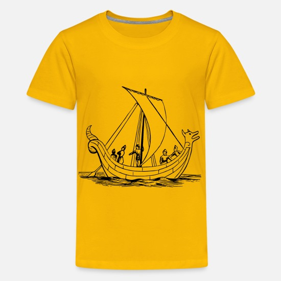 Anglo Saxon T-Shirts - Saxon ship - Kids' Premium T-Shirt sun yellow