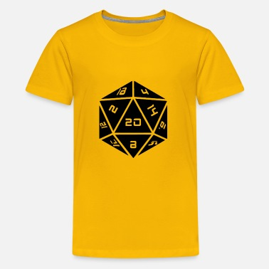 D20 d20 black - Kids' Premium T-Shirt