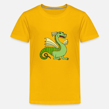 Chinese Green Chinese Dragon - Kids' Premium T-Shirt