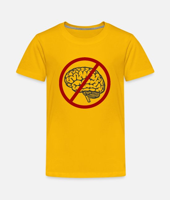 Movie T-Shirts - Idiocracy No Brain - Kids' Premium T-Shirt sun yellow
