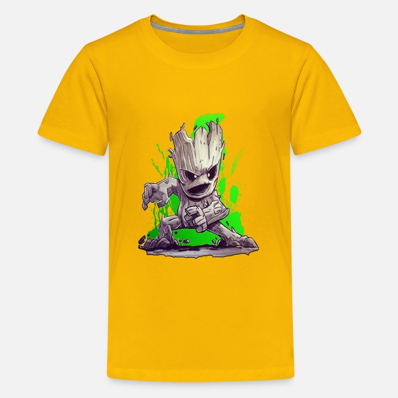 Baby T-Shirts - BABY GROOT - Kids' Premium T-Shirt sun yellow