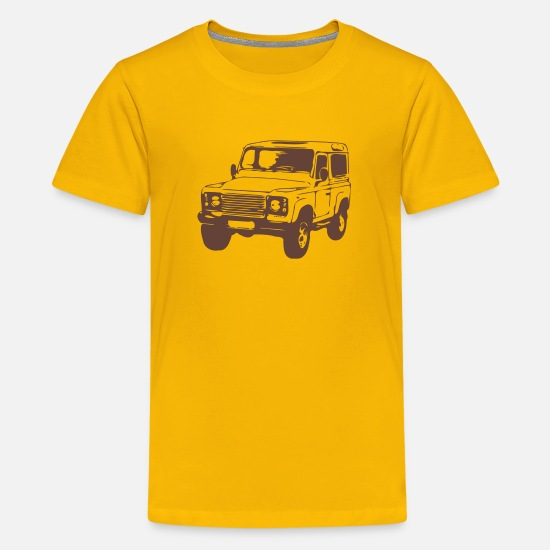 Land T-Shirts - Defender 2 - Kids' Premium T-Shirt sun yellow