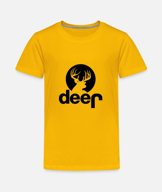 Stag T-Shirts - Deer Jeep Hunting - Kids' Premium T-Shirt sun yellow