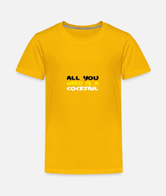 Coctail T-Shirts - Coctail Tee for club party - Kids' Premium T-Shirt sun yellow