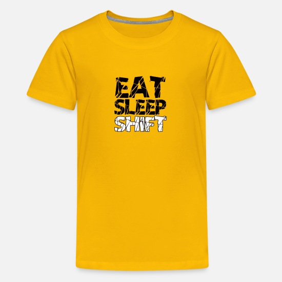 Birthday T-Shirts - Eat Sleep Shift drivers gift shirt - Kids' Premium T-Shirt sun yellow