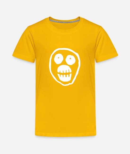 Movie T-Shirts - The Mighty Boosh Skull - Kids' Premium T-Shirt sun yellow